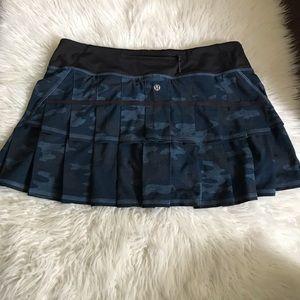 Lululemon Pace Setter Skirt Camo Oil Slick Blue